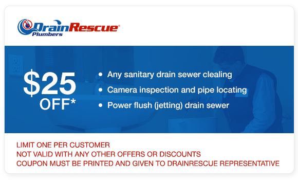Sanitary drain cleaning coupons Drain Rescue