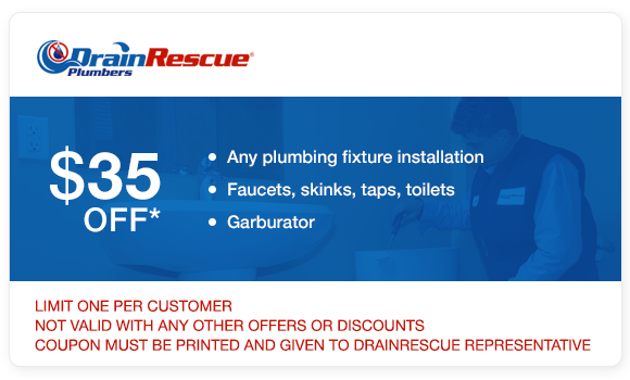 Drain Rescue plumbing fixture installation coupon