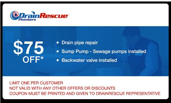 Drain repair coupon Drain Rescue