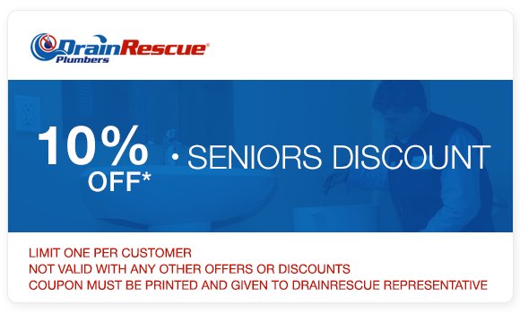 Plumbing senior discount coupon Drain Rescue